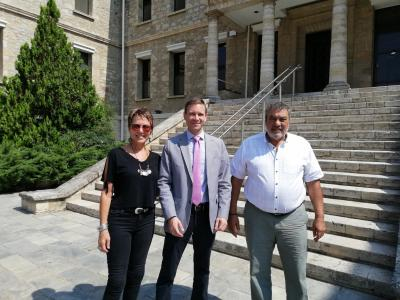 Newly Appointed U.S. Consul General in Thessaloniki visits the School