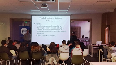 Vocational High School students discuss with experts about fake news
