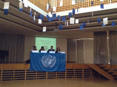 DST Model United Nations conference at the German school of Thessaloniki.